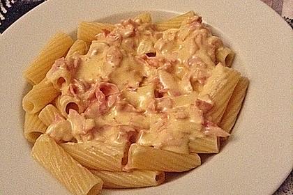 Nudeln mit Schinken - Sahne - Käse Soße 8