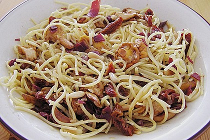Pasta mit Pfifferlingen