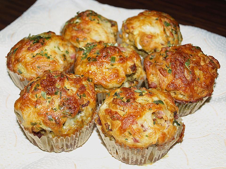Gefullte Deftige Muffins Mit Tomate Und Schinken Von S Minchen