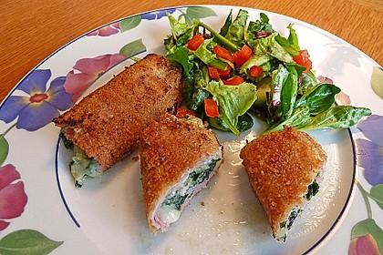 Schinken-Käse-Rucola Rouladen