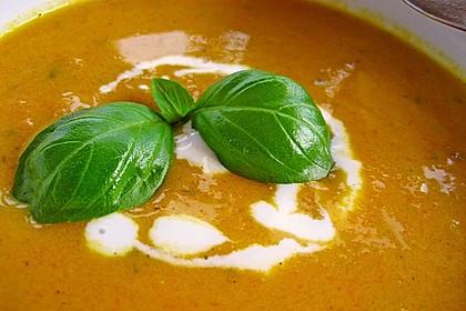 Exotische Möhren-Ingwer-Thaicurry-Kokosmilch Cremesuppe 3