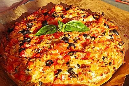 Fladenbrot mit Oliven 1