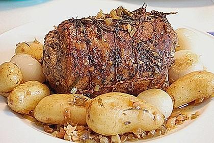 Albertos Schweinerollbraten mit Kräutern - Arista 1