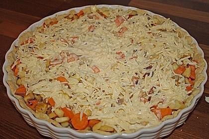 Möhren-Pastinaken Quiche 5