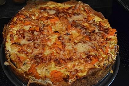 Möhren-Pastinaken Quiche 4