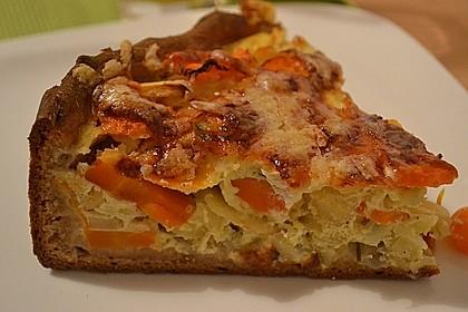 Möhren-Pastinaken Quiche