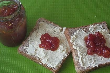 Ziegenfrischkäse mit Tomatenmarmelade 1