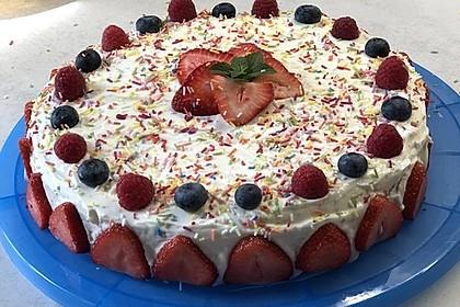 Vanillekuchen mit Vanille Cream Cheese Frosting 3