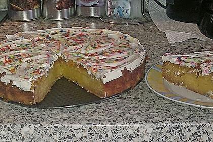 Vanillekuchen mit Vanille Cream Cheese Frosting 1