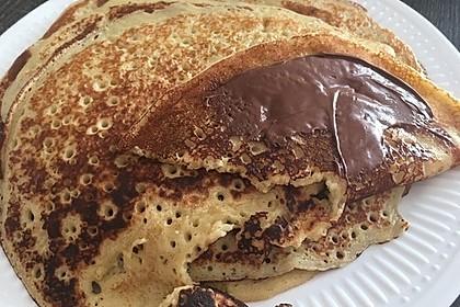Bananenpfannkuchen mit Nutella 2