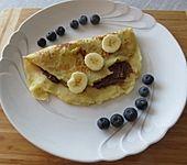 Bananenpfannkuchen mit Nutella (Bild)