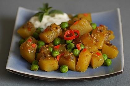 Kartoffel-Erbsen-Curry
