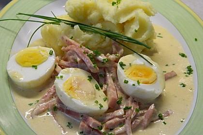 Eier in Schinken-Sahne Soße 8