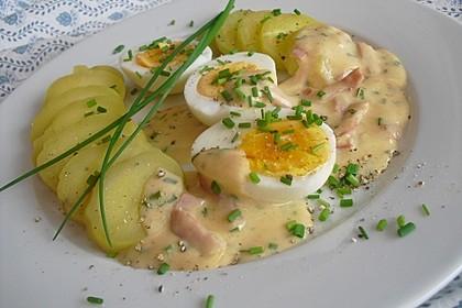 Eier in Schinken-Sahne Soße