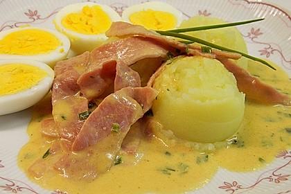 Eier in Schinken-Sahne Soße 30