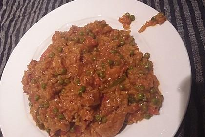 Schnelle Reispfanne ohne Vorkochen der Zutaten - alles in einer Pfanne 4