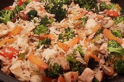 Schnelle Reispfanne ohne Vorkochen der Zutaten - alles in einer Pfanne (Bild)