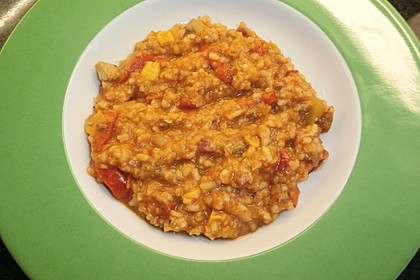Schnelle Reispfanne ohne Vorkochen der Zutaten - alles in einer Pfanne 1