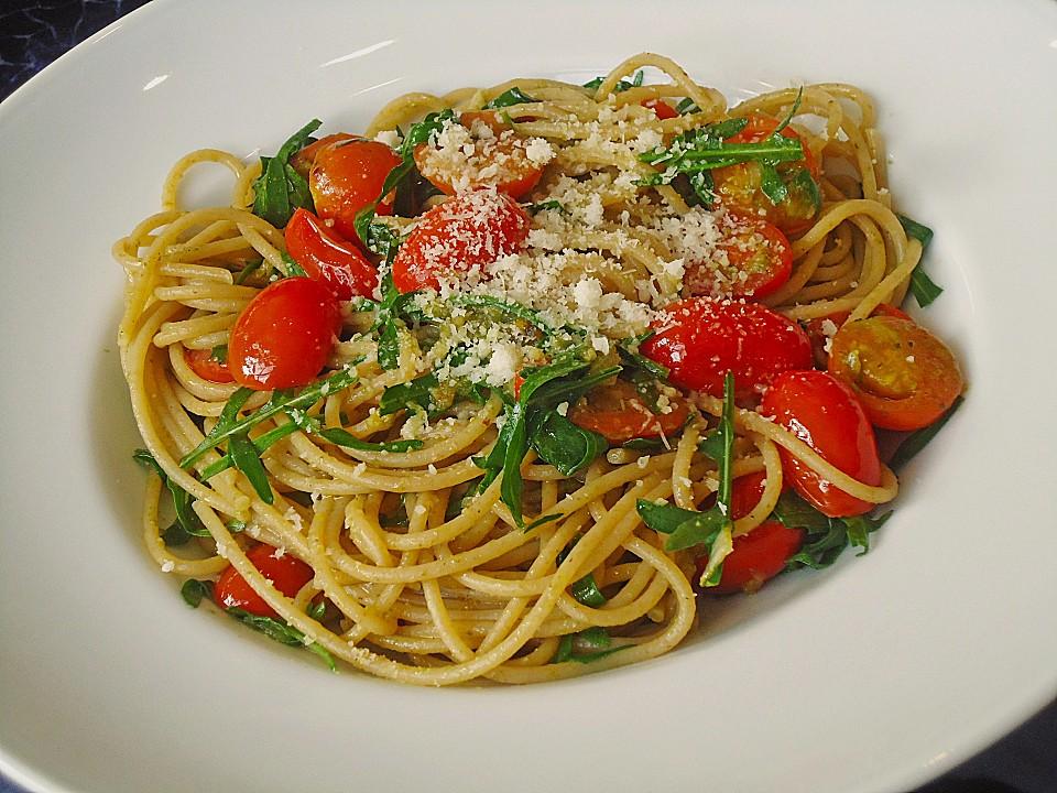 Spaghetti Mit Rucola Und Pesto Von Myxintm Chefkoch