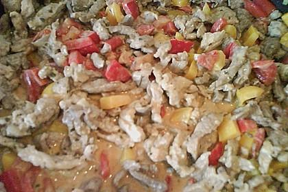 Bauernpfanne mit Kartoffeln und Paprika 1