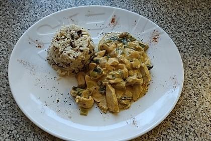 Geschnetzeltes in Frischkäsesauce mit Champignons und Lauchzwiebeln 5