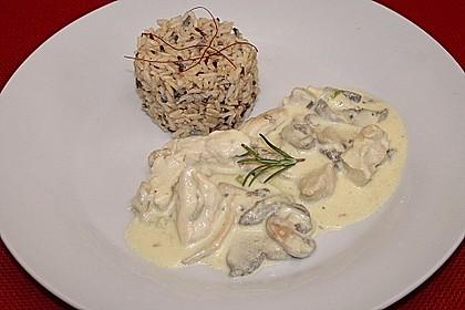 Geschnetzeltes in Frischkäsesauce mit Champignons und Lauchzwiebeln 7