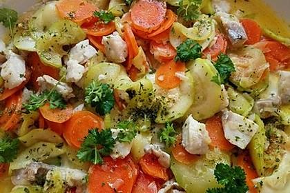 Gemüse-Lachspfanne