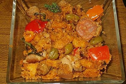 Migas Brotwürfel mit Schweinebauch und Chorizo 1