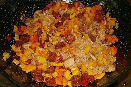 Migas Brotwürfel mit Schweinebauch und Chorizo 4