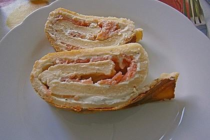 Kräuter-Frischkäse Lachsrolle 4
