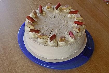 Rhabarber-Tiramisu-Torte (Bild)