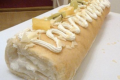 Ananas-Sahne Biskuitrolle 4