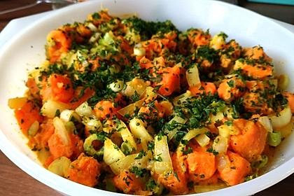 Süßkartoffelsalat mit Paprika und Ingwer 4