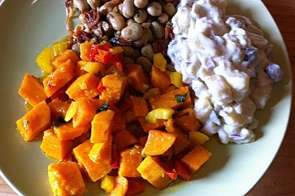 Süßkartoffelsalat mit Paprika und Ingwer 5