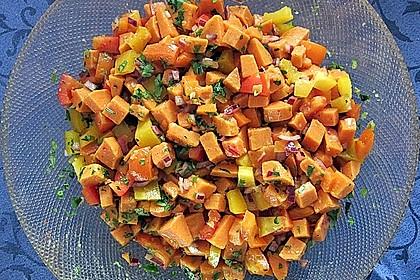 Süßkartoffelsalat mit Paprika und Ingwer 1
