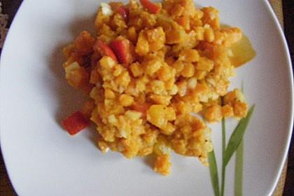 Süßkartoffelsalat mit Paprika und Ingwer 7