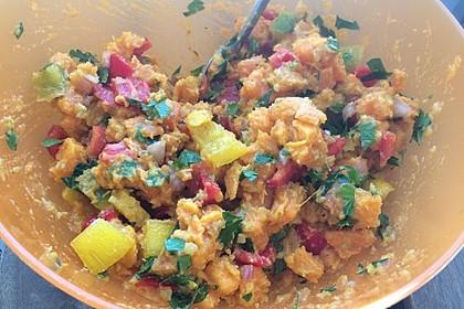 Süßkartoffelsalat mit Paprika und Ingwer 8