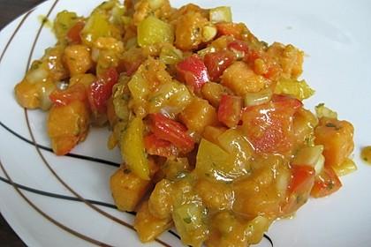 Süßkartoffelsalat mit Paprika und Ingwer 3