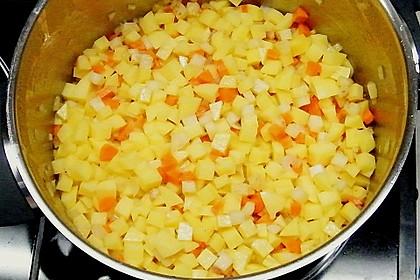 Kartoffelcremesuppe mit Majoran 5