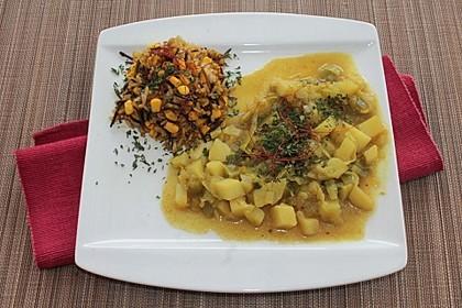 Kartoffel-Lauch Curry mit Kokos 6