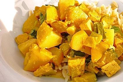 Kartoffel-Lauch Curry mit Kokos 3