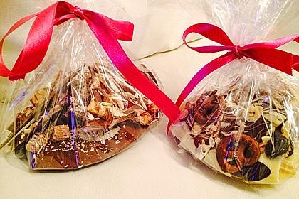 Bunte Bruchschokolade zum Verschenken 31
