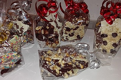 Bunte Bruchschokolade zum Verschenken 21