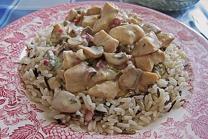 Cremige Champignon-Hähnchenpfanne 1