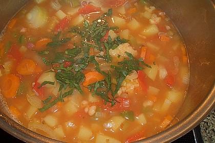 Serbische Bohnensuppe 17