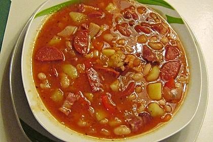 Serbische Bohnensuppe 14