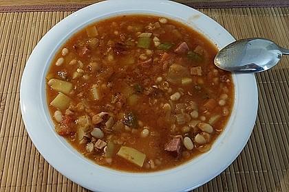 Serbische Bohnensuppe 9