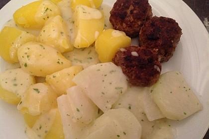 Kohlrabi-Gemüse mit heller Sauce 50