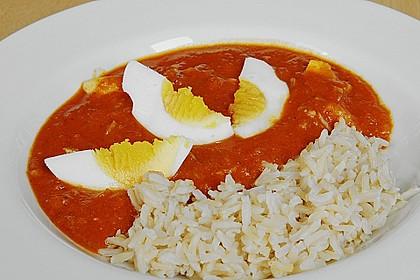 Eiercurry mit Kokosmilch (Bild)