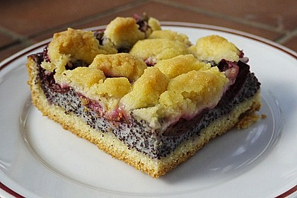 Zwetschgenkuchen mit Mohnquark + Butterstreuseln 4